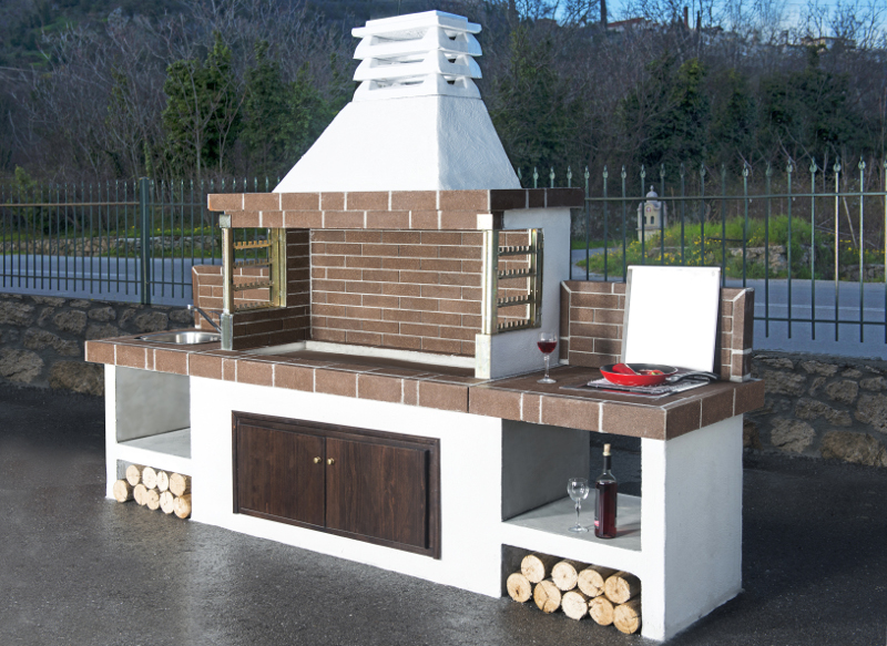 Code 03000 gartenbarbecue mit ablage oder waschbecken - Garten steinofen ...